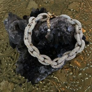 Gold Thick Chain Choker Necklace